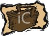 Double Hinged Picnic Basket clipart