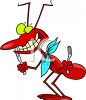 Ant Going To a Picnic clipart