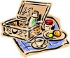 Picnic Spread on a Blanket clipart