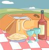 Picnic With Wine clipart