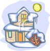House Covered With Snow clipart