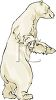 Large Polar Bear Standing Tall clipart