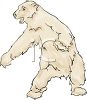 Menacing Polar Bear clipart