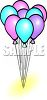 Party Balloon Bouquet clipart