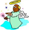 African American Angel clipart