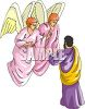 Man Talking to Angels clipart