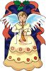 Heralding Christmas Angel  clipart