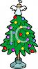 Angel Atop a Christmas Tree clipart