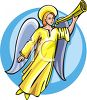 Heralding Angel with a Horn clipart