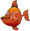 Piranha With an Underbite clipart
