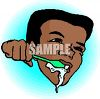 Black Boy Brushing His Teeth clipart