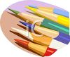 Sharp Colored Pencils clipart