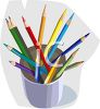 Colored Pencils in a Jar clipart