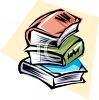 Stack of Fat Books clipart