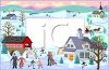 Quaint Winter Village clipart