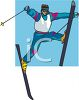 Man Jumping on Skis clipart