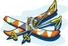 Snow Skis and Poles clipart