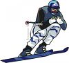 Competition Skier clipart