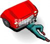 Mechanic Under a Car clipart