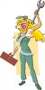 Pretty Blond Handy-Woman clipart
