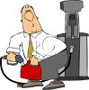 Man Pumping Gas into a Gas Can clipart