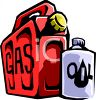 Gas Can and Quart of Oil clipart