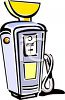 Vintage Gas Pump clipart
