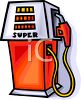 Modern Gas Pump clipart