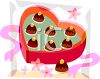 Valentines Chocolates in a Heart Shaped Box clipart