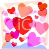 Pink and Red Hearts clipart