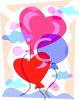 Heart Shaped Valentine Balloons clipart