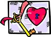 Heart with a Key clipart