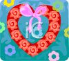 Heart Shaped Rose Wreath clipart