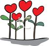 Heart Shaped Flowers clipart