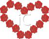 Heart Made of Roses clipart