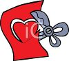 Scissors Cutting Out a Heart clipart