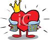 King of Hearts clipart