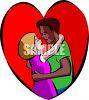 Interracial Couple clipart