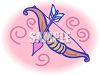 Cupids Bow and Arrow clipart