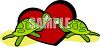 Turtles in Love clipart