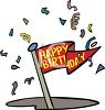 Happy Birthday Pennant clipart