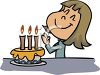 Birthday Girl Making a Wish clipart