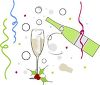 Champagne Toast to the New Year clipart