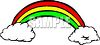 Rainbow Between Two Clouds clipart