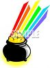 Pot of Gold at the End of the Rainbow clipart