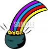 Rainbow from a Pot of Gold clipart
