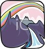 Rainbow in the Mountains clipart
