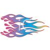 Rainbow Colored Flames clipart