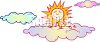 Sun Above the Clouds clipart