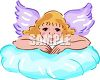 Cherub Angel On a Cloud clipart
